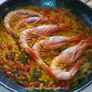 Receta de arroz con gamba roja de Huelva-alistados